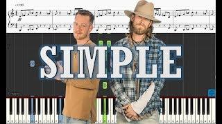 Florida Georgia Line - Simple - Piano Tutorial w Sheets