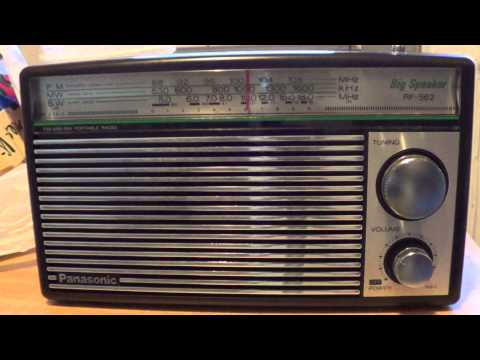 Panasonic RF-562 on Radio Romania spanish