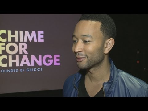 John Legend interview at the launch of the Chime for Change concert