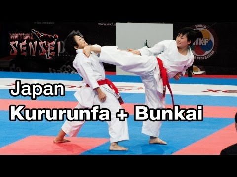 Japan Female Team Kata Kururunfa + Bunkai Final 21st Wkf World Karate Championships Paris Bercy 2012 video