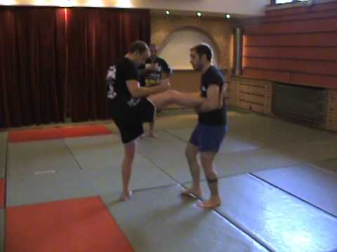 Kick Catch to Leg Lock - Reilly Bodycomb: Sambo Camp Brussels, Belgium 2010 Image 1