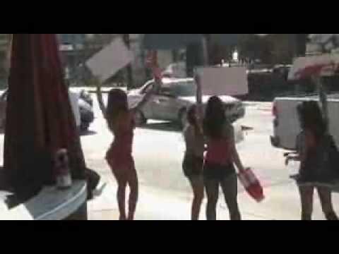 XXX Vitamin Energy PR Stunt with XXX burlesque girls