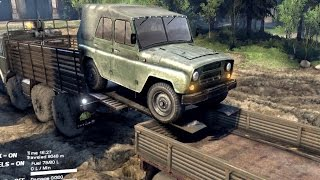 SPINTIRES 2014 - The Coast Map - How to Load the UAZ in the Utility Trailer
