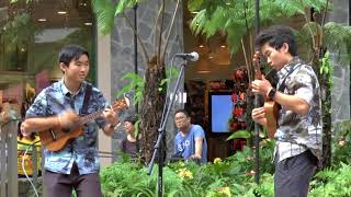 Skylar and Keenan at the International Ukulele Contest 2018 held at the International Market Place
