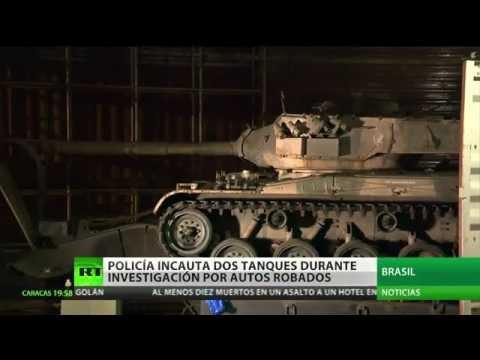 La Policía brasileña se incauta dos tanques mientras investiga un robo de automóviles