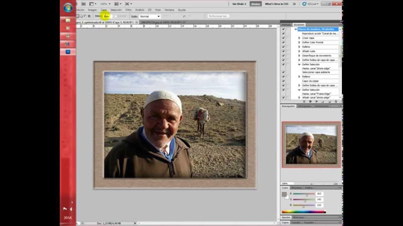 Como poner un cuadro de madera y como optimizar una foto a for Cuadros para poner fotos