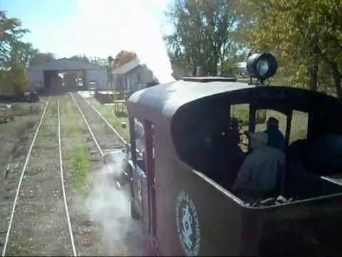 SC&S RR Heisler Steam Train ride Freeport Illinois .wmv