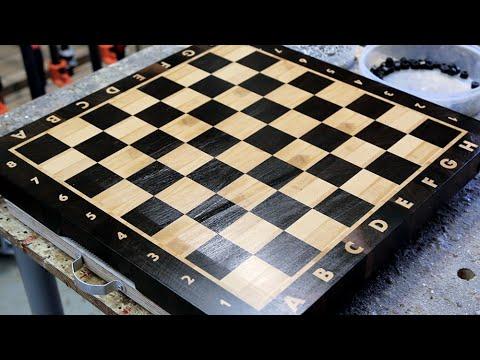 Торцовая шахматная доска своими руками