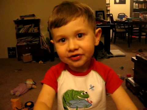 3-year-old recites poem, Litany by Billy Collins