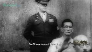 Shumei Okawa  hit the head of Hideki Tojo