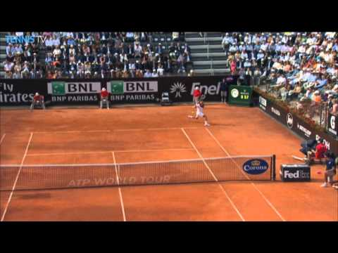 Djokovic Turns Rome 2014 Match With Hot Shot Against Nadal
