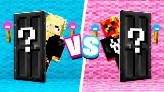 Minecraft MYSTERY Door Boy vs Girl Challenge!