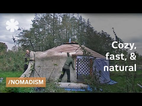 Nomadic tiny home: Mongolian yurt moves in 1 day, DIY-style
