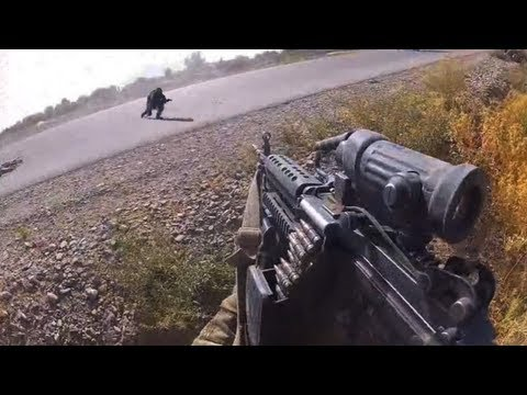 More combat footage not on YouTube at FUNKER530.com - http://vid.io/xGB While heading back to FOB Sperwan Ghar in Kandahar province Afghanistan, taliban figh...