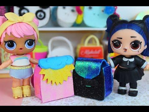 Рюкзак для кукол лол. BACK TO SCHOOL .Мультик про КУКЛЫ ЛОЛ. MC Family