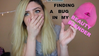 FINDING A BUG IN MY BEAUTY BLENDER