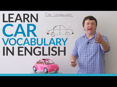 Learn vocabulary about CARS in English