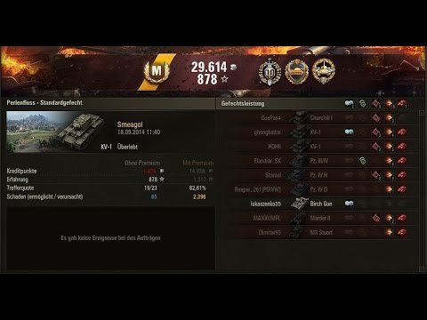 WoT #042 KV-1  Ace Tanker auf Perlenfluss mit Kommentar in Deutsch