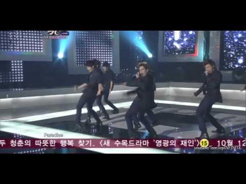 HD   111007 「 INFINITE (인피니트) - PARADISE 」 Live Performance   October 7, 2011
