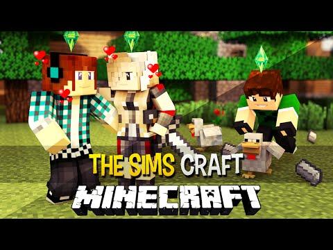 The Sims Craft Ep.30 - Estou NAMORANDO e Galinha de Minérios !! - Minecraft