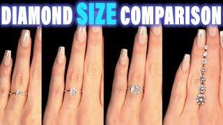 (8.36 MB) Diamond Size Comparison on Hand Finger Carat 1 2 3 4 0.5 ct 0.25 0.75 1.5 0.3 0.8 0.7 0.6 0.4 .9 1/2 Mp3