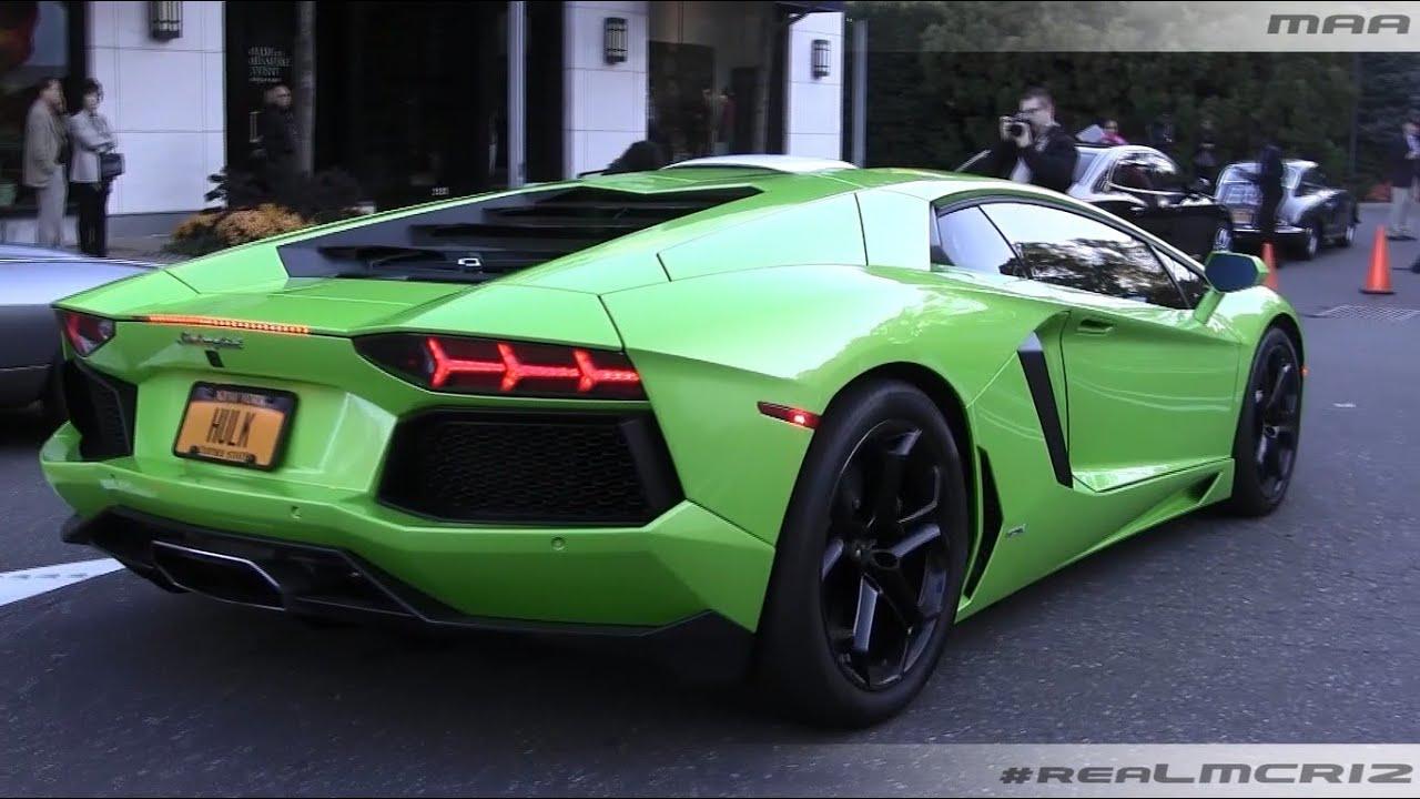 GREEN Lamborghini Aventador LP 700 4 ORANGE Lamborghini