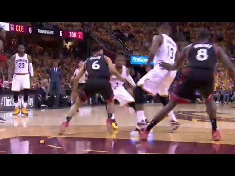 Kyrie Irving Shows Off His Handles Before Finishing at the Basket