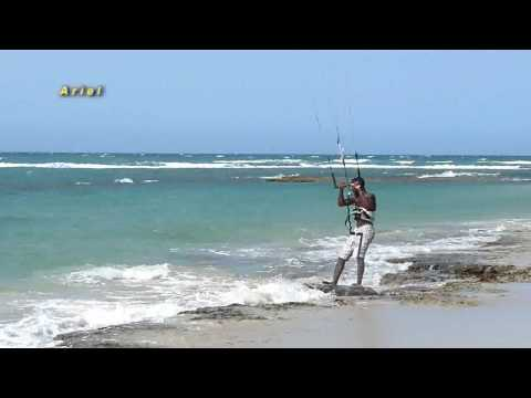 Kitesurfing in Cabarete at Kite Beach, June/July 2009. National competition with Ariel Corniel, Alex Soto, Luis Alberto and Manuel Rondon. Michael Jackson Sh...