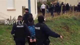 France: Images of mass student arrests near Paris spark outrage
