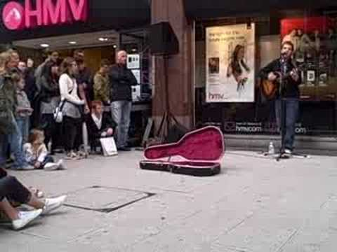James Morrison busking in Birmingham city centre 5 (Once When I was Little)