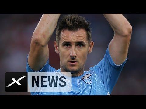Miroslav Klose sagt Ciao! Weltmeister verlässt Lazio | Nächste Stürmer-Legende verlässt Serie A