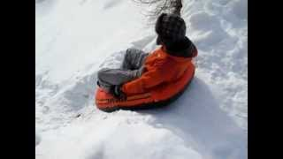 Russian man in horrible snow boat accident!
