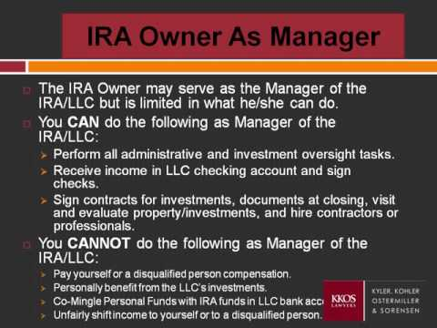 Understanding the Self-Directed Checkbook IRA LLC Investment