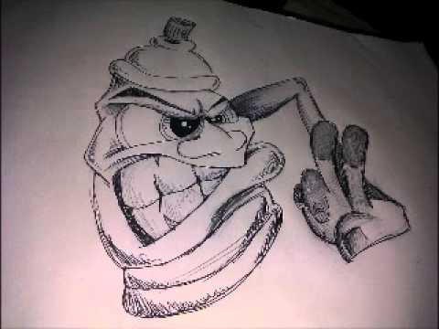 Graffiti Spray Can Characters Drawings by Wizard Draw Graffiti Character