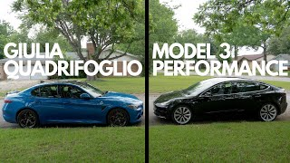 Model 3 Performance VS Giulia Quadrifoglio | Which is the better EVERYDAY performance sedan?