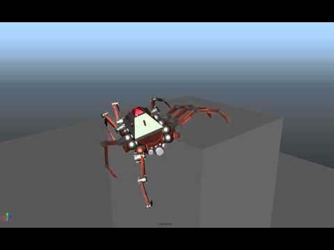 Mechanical Arachnid animation test 3