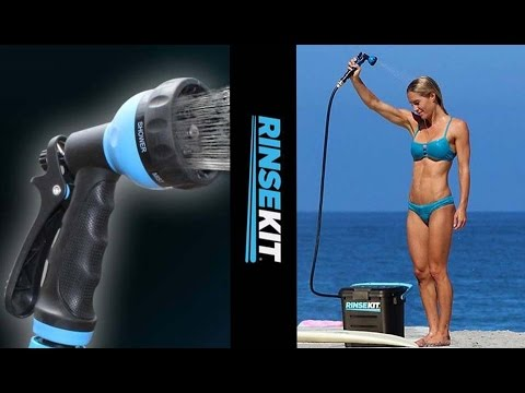 RinseKit - Portable Shower - No Power Required - Camping. Fishing. Pets. Gardening Video Review