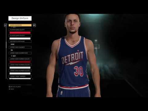 NBA 2K16 Detroit Pistons lightning bolt away jersey
