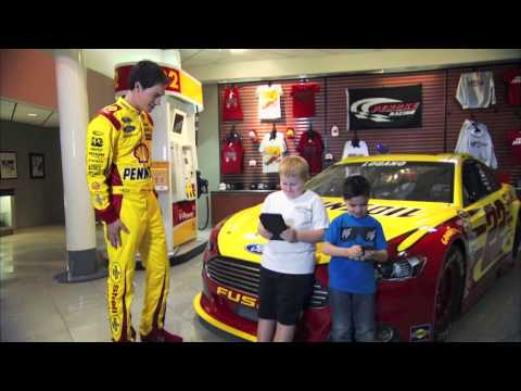 Joey Logano takes on the Freightliner NASCAR Hauler Challenge Game.