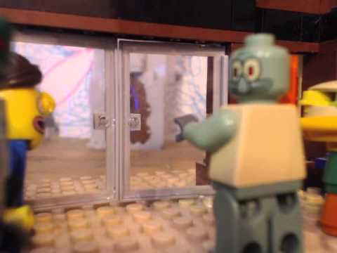 Lego Spongebob Fools In April video