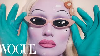 Juno Birch Breaks Down Her Alien Queen Beauty Routine | Extreme Beauty | Vogue
