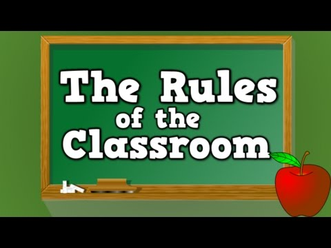 The Rules Of The Classroom (song For Kids About The 6 Rules Of The Classroom) video