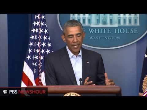 President Obama discusses advances in Iraq and his concerns about Ferguson, Missiouri