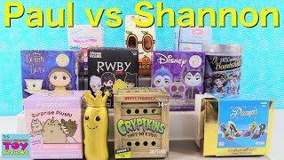 Paul vs Shannon Blind Bag Challenge Funko Pusheen Opening | PSToyReviews
