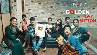 Finally , Dream Comes True & I Got GOLDEN PLAY BUTTON From Youtube.......:-)