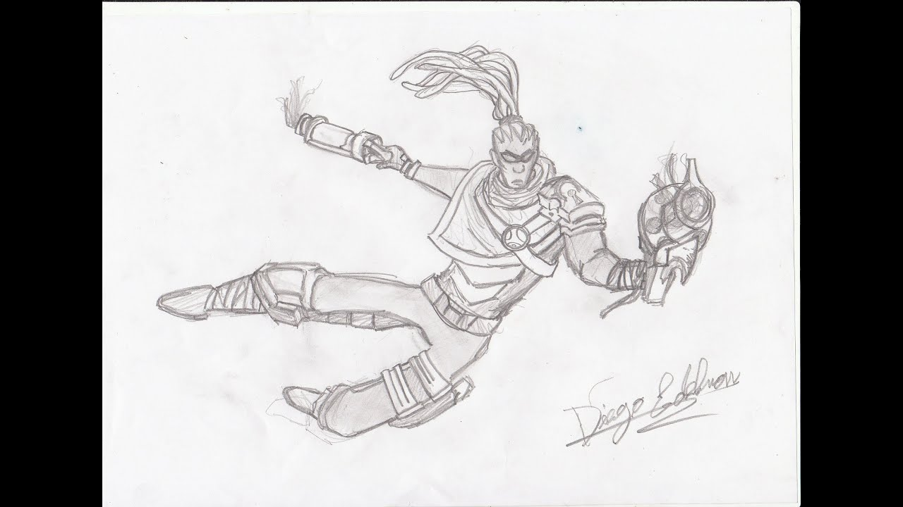 Lucian Lol Drawing League of Legends Hired Gun