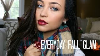 Everyday Fall Glam Makeup Tutorial + Outfit ♡