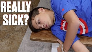 GETTING CHECKED OUT OF SCHOOL SICK | HE BETTER NOT BE FAKING SICK TO SKIP SCHOOL!