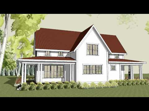 A White Farmhouse Plan