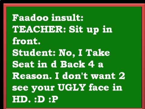 Faduu Insult of Teacher  Must Watch Attitude Sms